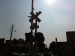 iPhone 4 Original Image Of A Train Rail Crossing Sign