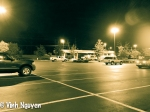 Lightroom 4 Retouched Purple Halo iPhone 5 Camera Glitch Of Parking Lot Near Gas Station Image 01