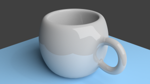 Blender 3D rendered cup 01 with 1000 samplers and .98 clamp