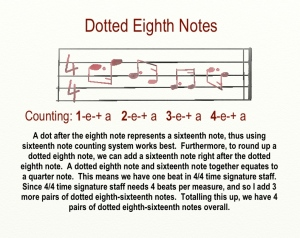Dotted Notes four four time dotted eighth